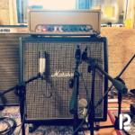 Setup per la registrazione delle chitarre elettriche all'Haunted Studio