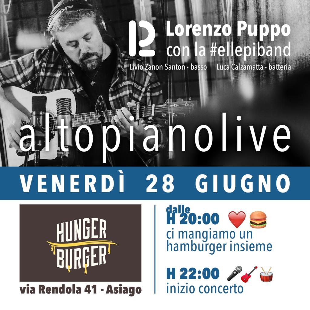AltopianoLive - Venerdì 28 Giugno - Lorenzo Puppo e la #ellepiband